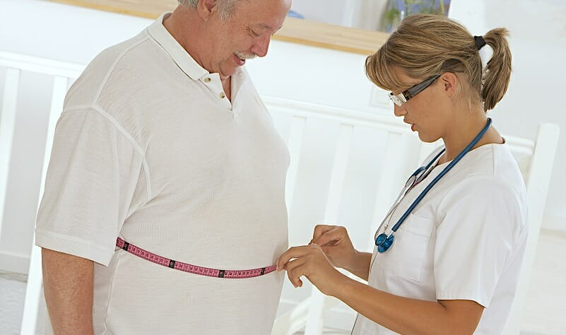 obese patient waist measurement